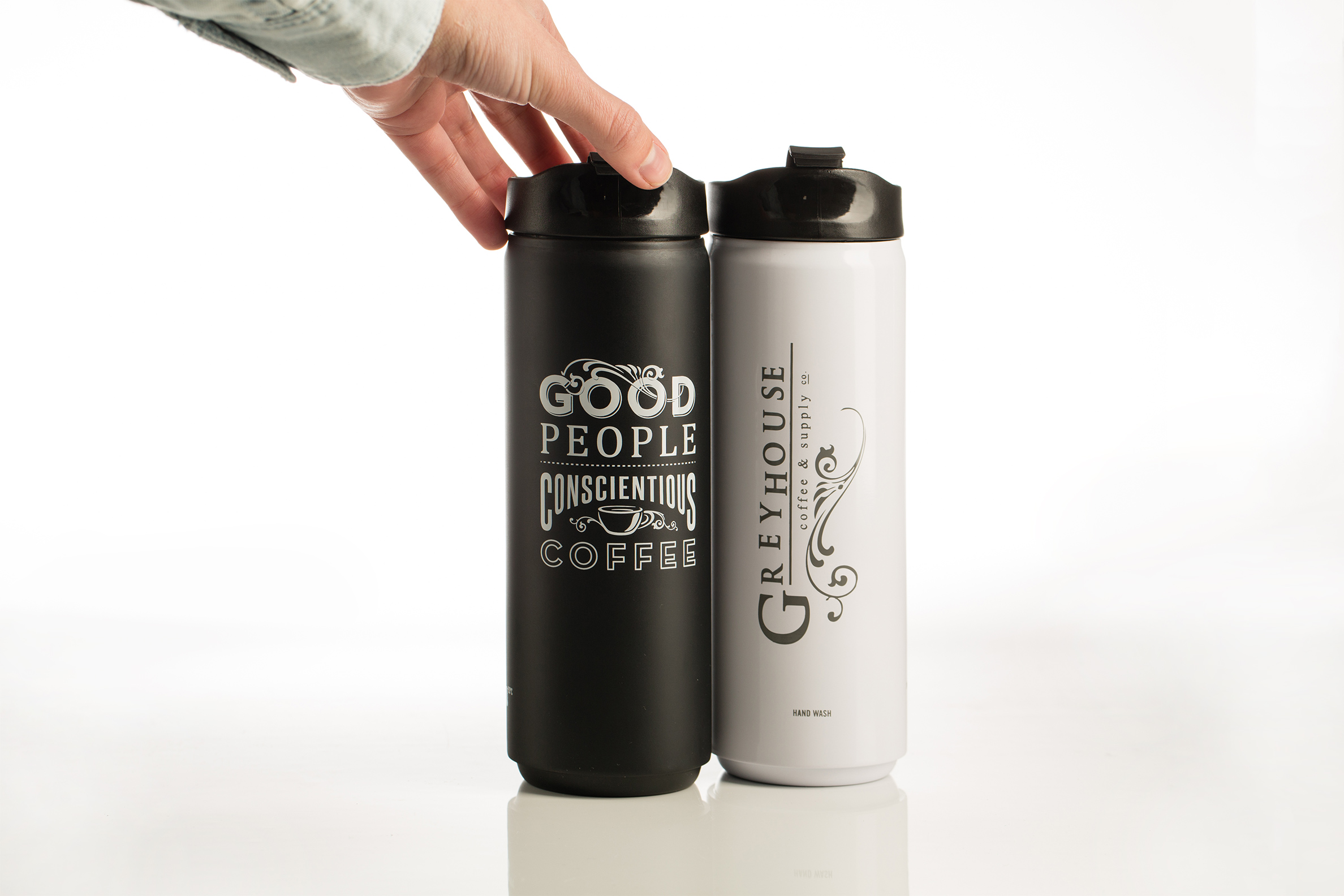 Emily Knapp Design Greyhouse Coffee Travel Mug